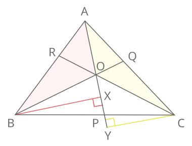 チェバの定理証明1