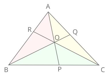 チェバの定理証明2