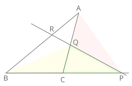 メネラウスの定理証明