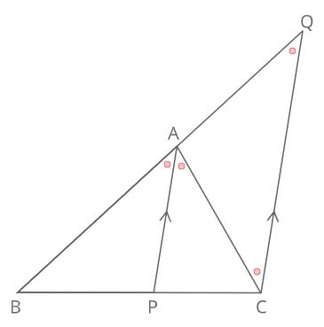 内角の二等分線と比証明