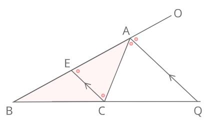 外角の二等分線と比証明