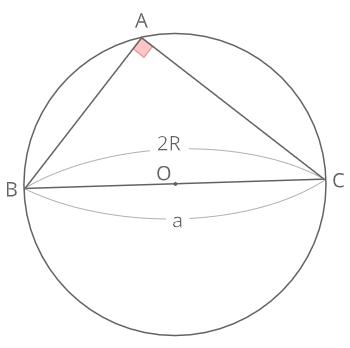 正弦定理証明(直角)