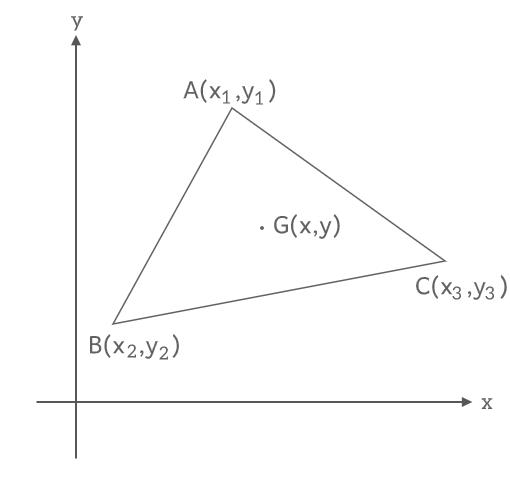 三角形の重心の座標